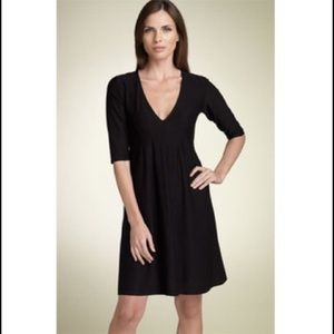 Eileen Fisher Deep V Neck Dress